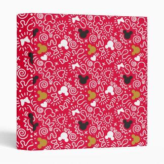 Minnie Mouse | Doodle Pattern Vinyl Binders