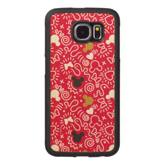 Minnie Mouse | Doodle Pattern Wood Phone Case