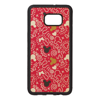 Minnie Mouse | Doodle Pattern Wood Samsung Galaxy S6 Edge Case