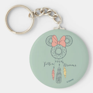 Minnie Mouse Dream Catcher | Follow Your Dreams Basic Round Button Keychain