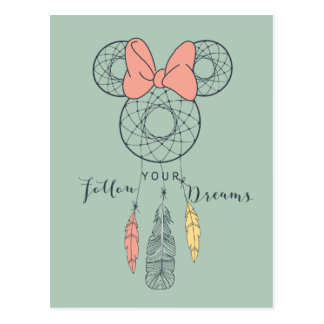 Minnie Mouse Dream Catcher | Follow Your Dreams Postcard