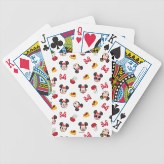 Minnie Mouse Emoji Pattern Poker Deck