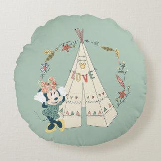 Minnie Mouse | Festival Fun Round Pillow