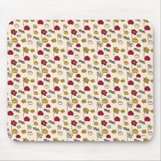 Minnie Mouse Hats Pattern Mouse Pad