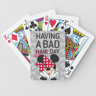 Minnie Mouse | Having a Bad Bow Day Bicycle Playing Cards
