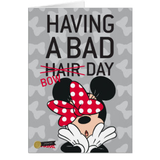 Minnie Mouse | Having a Bad Bow Day Card