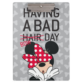 Minnie Mouse | Having a Bad Bow Day Clipboard