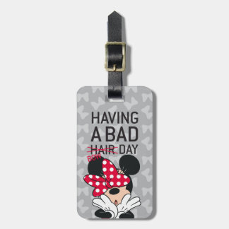 Minnie Mouse | Having a Bad Bow Day Luggage Tag