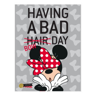 Minnie Mouse | Having a Bad Bow Day Postcard