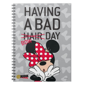Minnie Mouse | Having a Bad Bow Day Spiral Notebook