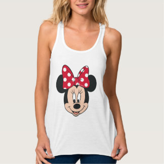 Minnie Mouse | Head Logo Tank Top