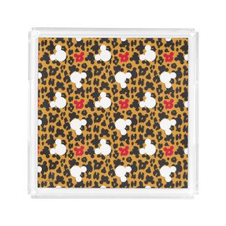 Minnie Mouse | Leopard Pattern Acrylic Tray