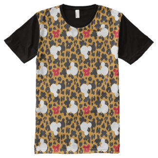Minnie Mouse | Leopard Pattern All-Over-Print T-Shirt