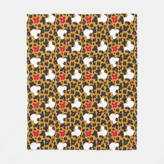 Minnie Mouse | Leopard Pattern Fleece Blanket