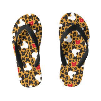 Minnie Mouse | Leopard Pattern Kid's Flip Flops