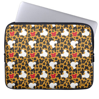 Minnie Mouse | Leopard Pattern Laptop Sleeve