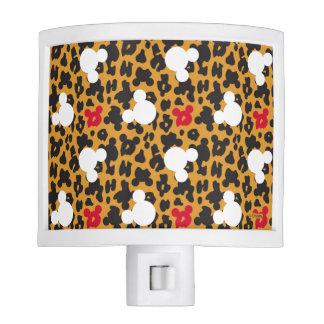 Minnie Mouse | Leopard Pattern Night Light