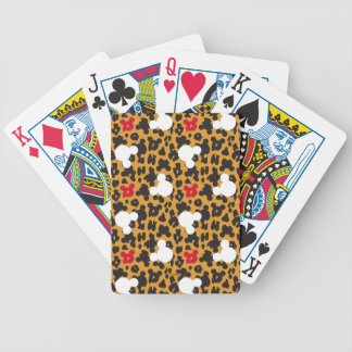 Minnie Mouse | Leopard Pattern Poker Deck