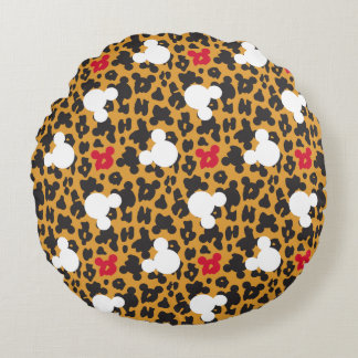 Minnie Mouse | Leopard Pattern Round Pillow