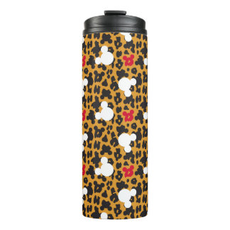 Minnie Mouse | Leopard Pattern Thermal Tumbler