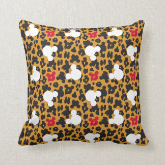 Minnie Mouse | Leopard Pattern Throw Pillow
