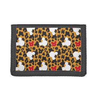 Minnie Mouse | Leopard Pattern Tri-fold Wallets
