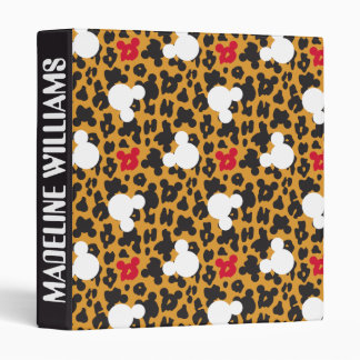 Minnie Mouse | Leopard Pattern Vinyl Binder