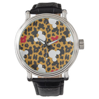 Minnie Mouse | Leopard Pattern Wristwatch