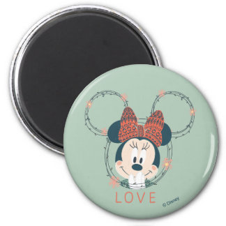 Minnie Mouse | Love 2 Inch Round Magnet