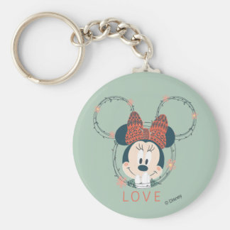 Minnie Mouse | Love Basic Round Button Keychain