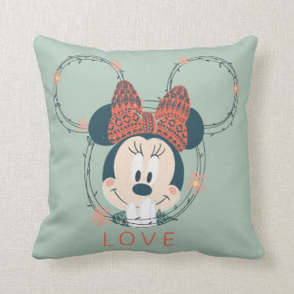 Minnie Mouse | Love Throw Pillow