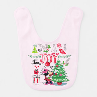 Minnie Mouse | Minnie's Christmas Joy Bib