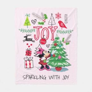 Minnie Mouse | Minnie's Christmas Joy Fleece Blanket