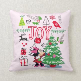 Minnie Mouse | Minnie's Christmas Joy Throw Pillow