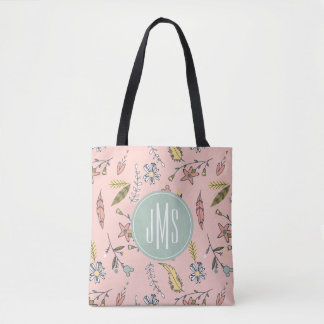 Minnie Mouse | Monogram Adventures Await Pattern Tote Bag