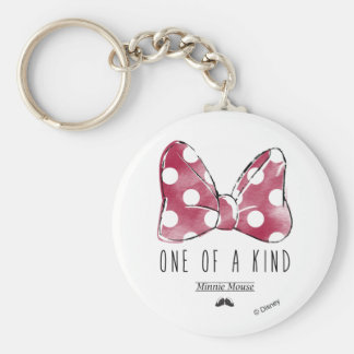Minnie Mouse | One Of A Kind Basic Round Button Keychain