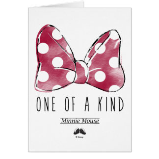 Minnie Mouse   One Of A Kind Card