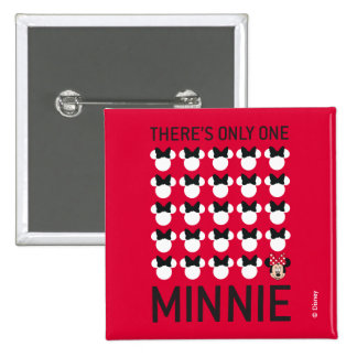 Minnie Mouse | Only One Minnie 2 Inch Square Button