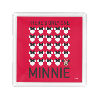 Minnie Mouse | Only One Minnie Acrylic Tray