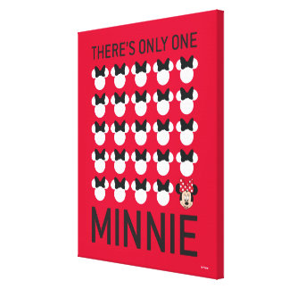 Minnie Mouse | Only One Minnie Canvas Print