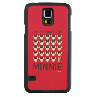 Minnie Mouse | Only One Minnie Carved Maple Galaxy S5 Case