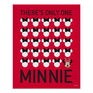 Minnie Mouse | Only One Minnie Poster