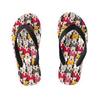 Minnie Mouse | Pattern Kid's Flip Flops