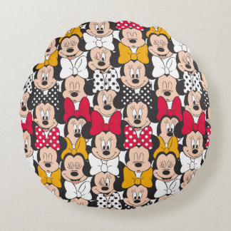 Minnie Mouse | Pattern Round Pillow
