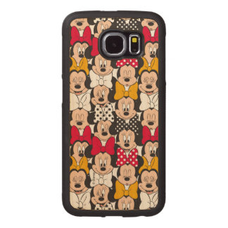 Minnie Mouse | Pattern Wood Phone Case