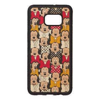 Minnie Mouse | Pattern Wood Samsung Galaxy S6 Edge Case
