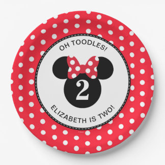 Minnie Mouse | Red & White Polka Dot Birthday Paper Plate