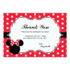 Minnie Mouse | Red & White Polka Dot Thank You Card