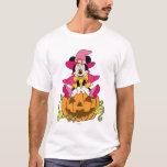 Minnie Mouse Sitting on Jack-O-Lantern T-Shirt
