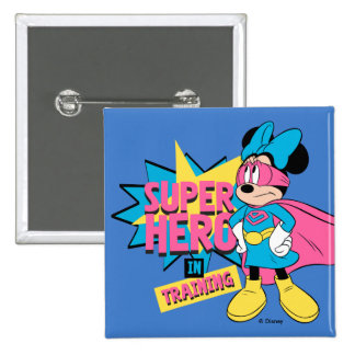 Minnie Mouse | Super Hero in Training 2 Inch Square Button